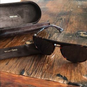 TOM FORD Tortoise Shell Aviator Sunglasses
